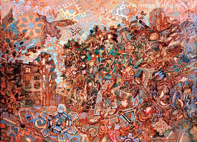 Сергей Есенин, портрет на фоне иллюстраций к произведениям, тур в Константиново