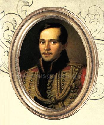 Портрет М.Ю.Лермонтова в военной форме