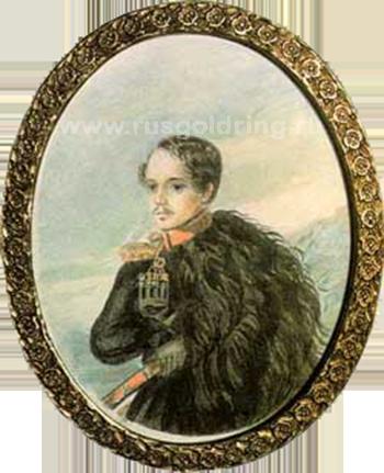 М.Ю.Лермонтов. Автопортрет. Акварель. 1837г.