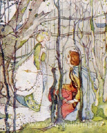"""Томас Рифмач и королева эльфов"" Иллюстрация Кэтрин Камерон. 1908г."
