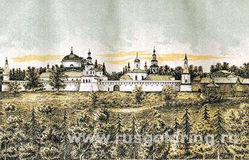 Раифский монастырь на гравюре