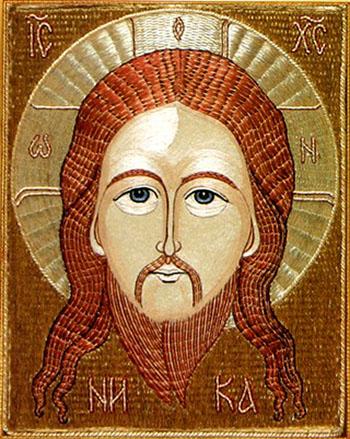 """""""Нерукотворный образ Господа нашего Иисуса Христа"""" Вышитая икона, тур в Шамордино"""