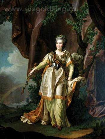 """""""Портрет Екатерины II"""" Д.Г. Левицкий. 1735-1822"""