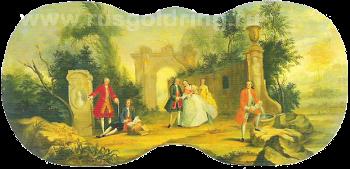 """""""Прогулка."""" Десюдепорт, 1754, Третьяковская галерея"""