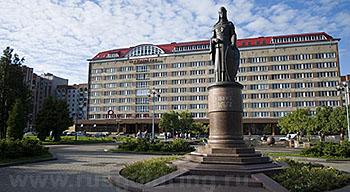 """Внешний вид отеля """"Рижская"""" в Пскове"""