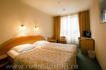 """2-местный номер стандарт в отеле """"Волхов"""", Великий Новгород"""