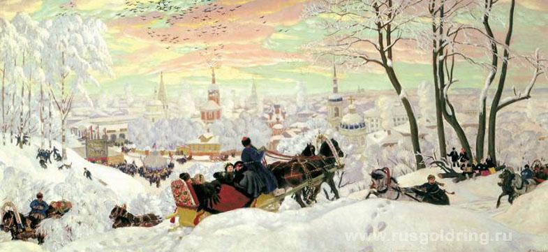 """""""Масленица"""" Борис Кустодиев 1916 год"""