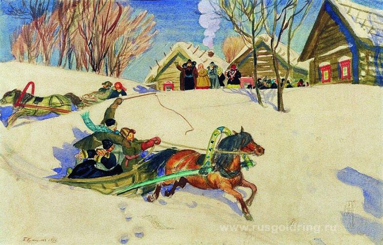 """""""Масленица"""" Борис Кустодиев 1920 год"""