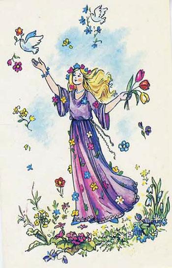 рисунки на тему 8 марта весна или